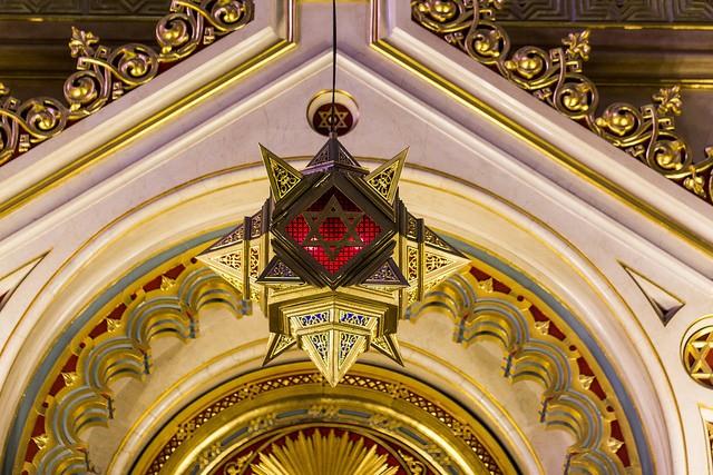 מגן דוד בבית הכנסת הגדול